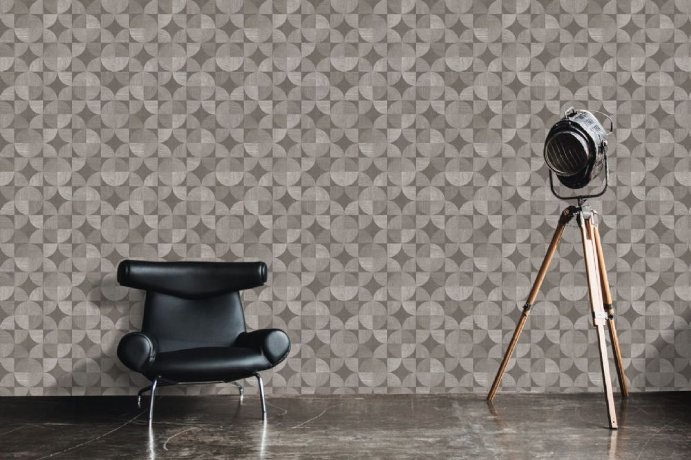 AS Creation Living Walls Retro Wooden Geo 36913-3 Wallpaper